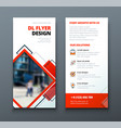 tri fold brochure design corporate business vector image vector image