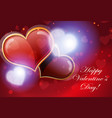 valentine hearts abstract background vector image