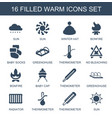 warm icons vector image vector image