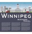 Winnipeg Skyline with Gray Buildings vector image vector image
