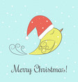 winter and christmas with merry vector image vector image