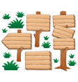 wooden signboard theme image 2 vector image vector image