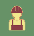 worker sign cordovan icon and mellow vector image vector image
