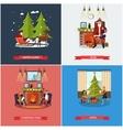 set of Christmas New Years Eve celebration vector image