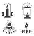 stylish logos depicting fire vector image