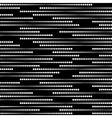 Stripes of Halftone Dots Seamless Pattern vector image