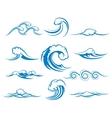 Waves of sea or ocean waves vector image