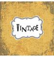 vintage retro grungy card vector image