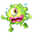 A green monster escaping vector image vector image