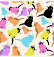 a pattern with different cute multi-colored vector image vector image
