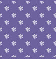abstract pattern with snowflakes winter vector image