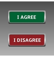 agree and disagree vector image vector image