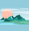 beautiful summer natural landscape scene of vector image vector image