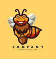 bee mascot cartoon logo vector image
