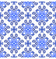 blue background decorative floral pattern vector image vector image