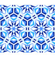 blue kaleidoscope star pattern vector image vector image