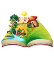 Book of children playing in the park vector image vector image
