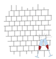 brickwall with glass color vector image vector image
