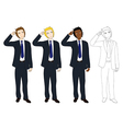 Business Man Thinking Scratching Head vector image vector image