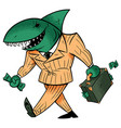 business shark isolated vector image vector image
