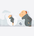 character funny and comic style man angry vector image vector image