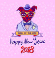 chinese new year 2018 year of dog design chinese vector image vector image