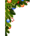 christmas card mistletoe vector image vector image