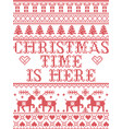 christmas pattern christmas time is here carol vector image vector image