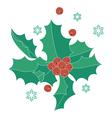 Christmas red berries vector image vector image