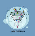 concept of digital data filtering electronic vector image vector image