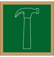 Construction hammer tool vector image vector image