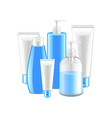 Cosmetic collection isolated on white vector image vector image