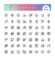 disease line icons set vector image vector image