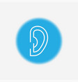 ear icon sign symbol vector image vector image