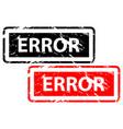 error rubber stamp vector image