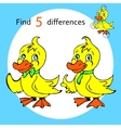 Find five differences duck vector image