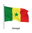 flag republic senegal vector image