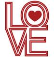 font type love happy valentines day vector image vector image