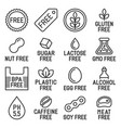 free labels and icons set on white background vector image