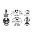 gentleman club vintage logo templates set retro vector image