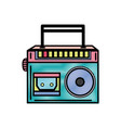 grated radio equipment to listen music with vector image vector image