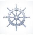hand drawn - ship steering wheel vector image vector image
