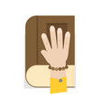hand on the bible flat design vector image