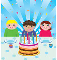 happy kids at birthday party vector image
