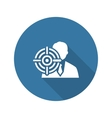 Headhunting Icon Business Concept Flat Design vector image vector image