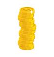 heap gold coins vector image