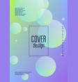 holographic cover with radial fluid vector image