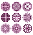 Korean ornament asian traditional symbols vector image vector image