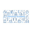 laboratory glassware blue outline vector image vector image