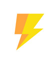 lightning icon simple vector image vector image